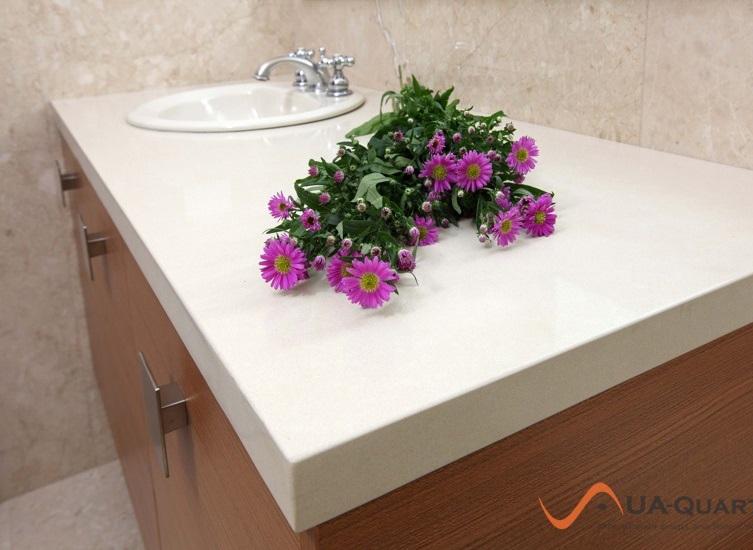 столешница для ванной кварцевая