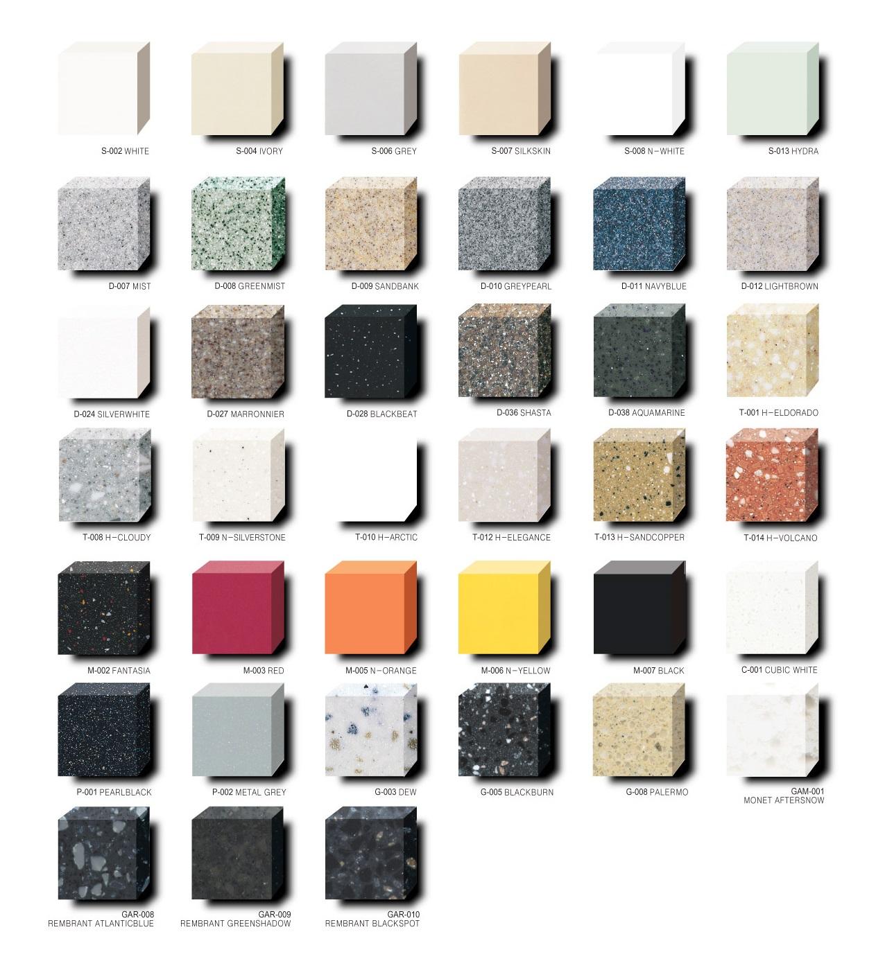 Цветовые решения из камня hanex